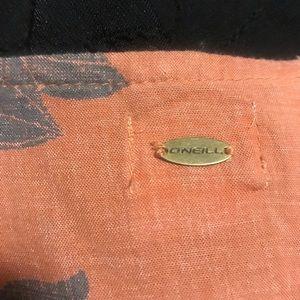 O'Neill Other - O'Neill Orange & Black Flower Romper